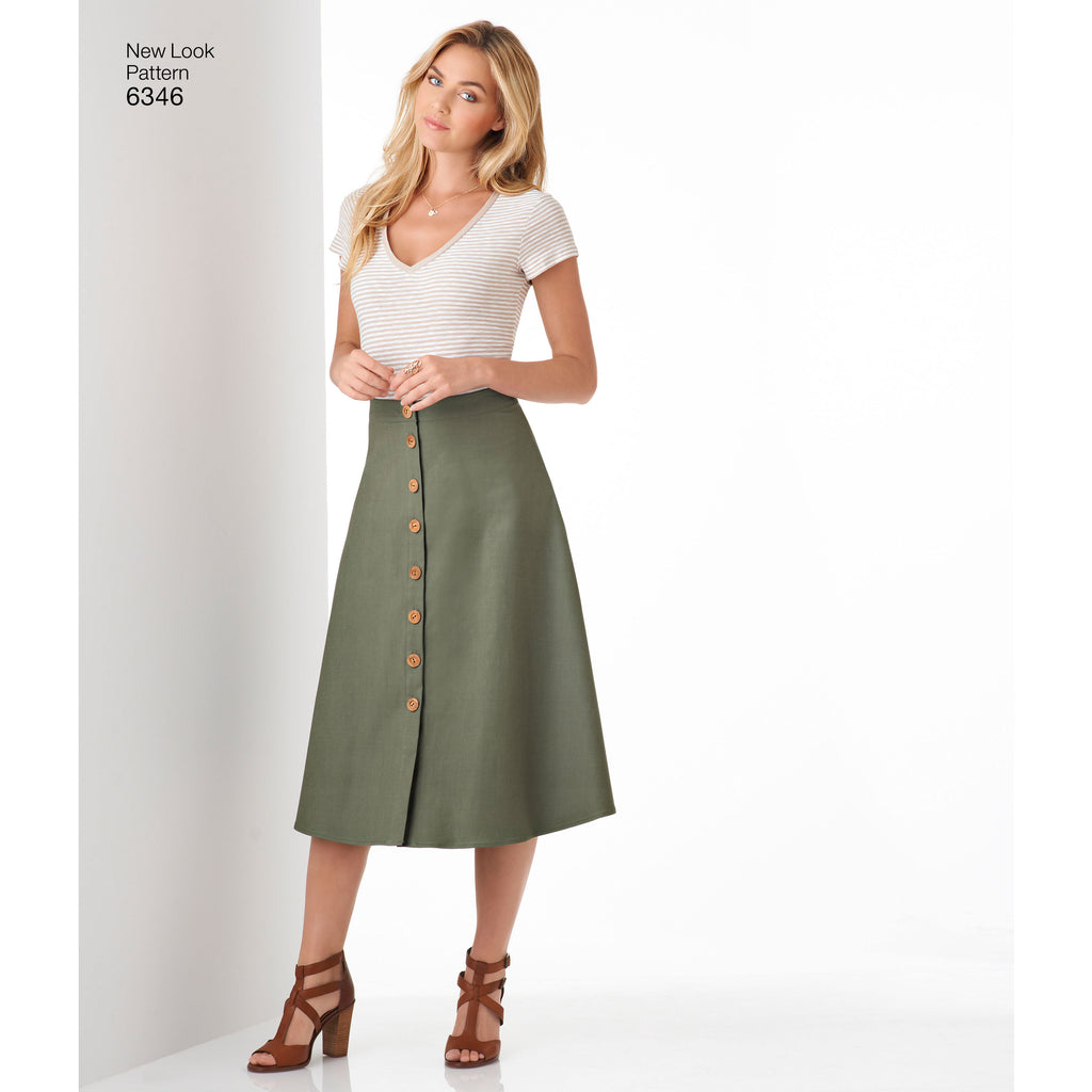 f77eb975e790f2 New Look Sewing Pattern 6346 - Misses' Easy Skirts in Three Lengths