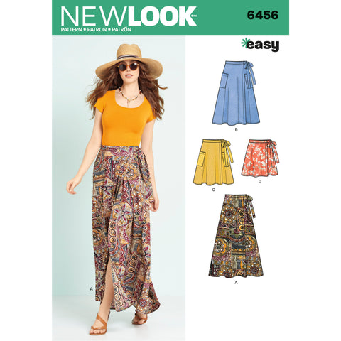 New Look Sewing Pattern 6456 - Misses' Easy Wrap Skirts in Four Lengths