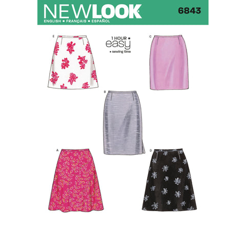 New Look Sewing Pattern 6843 - Misses Skirts