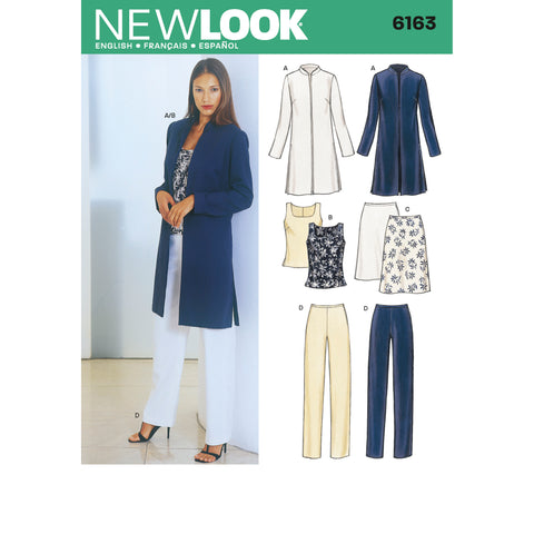 New Look Sewing Pattern 6163 - Misses Separates