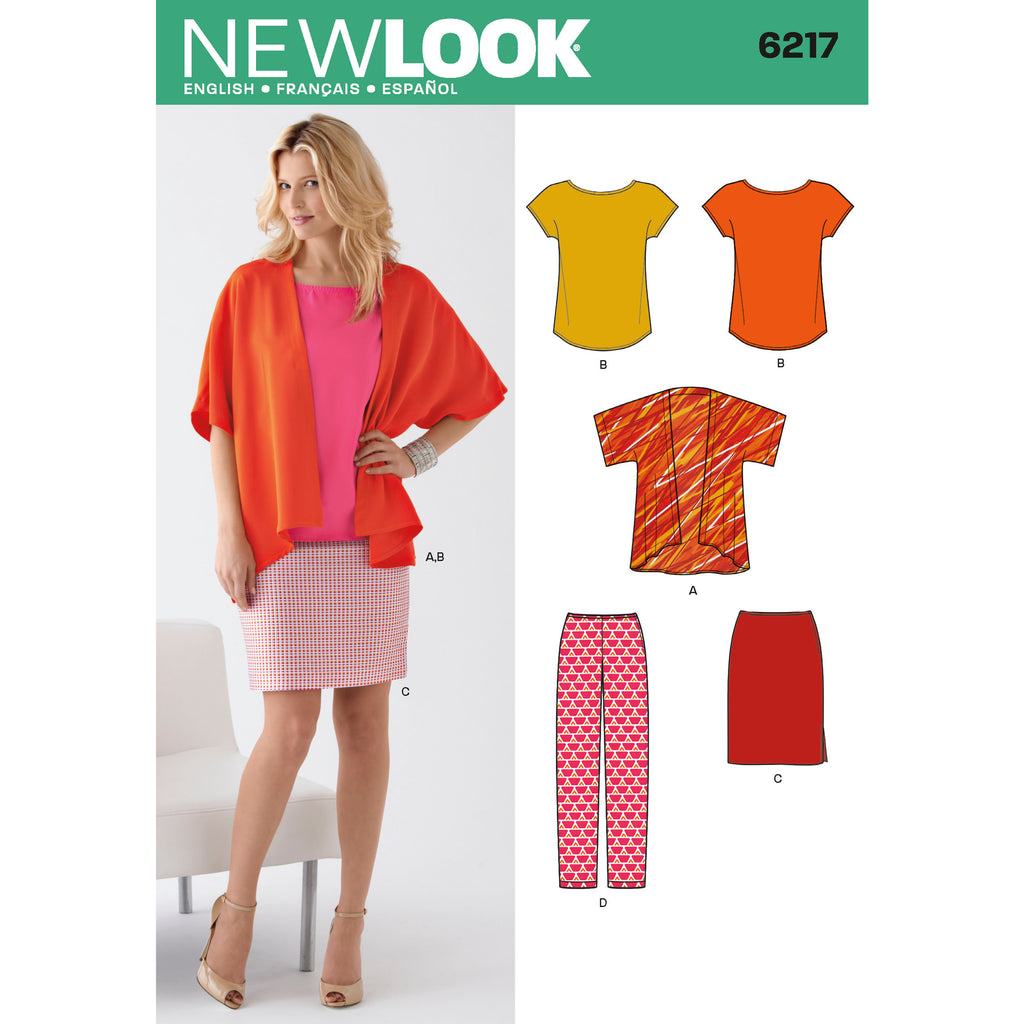 New Look Sewing Pattern 6217 - Misses' Separates