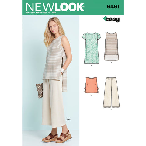 New Look Sewing Pattern 6461 - Misses' Dress, Tunic, Top and Cropped Pants
