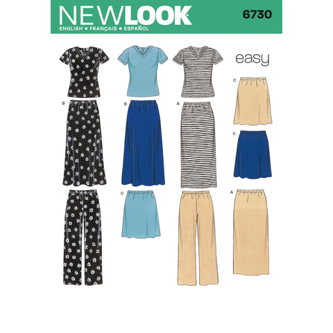 New Look Sewing Pattern 6730 - Misses Separates