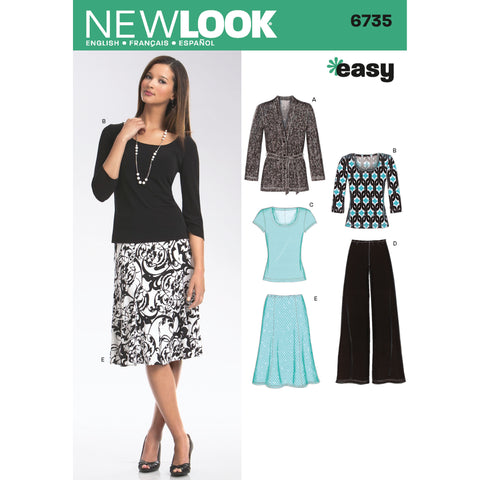 New Look Sewing Pattern 6735 - Misses Separates