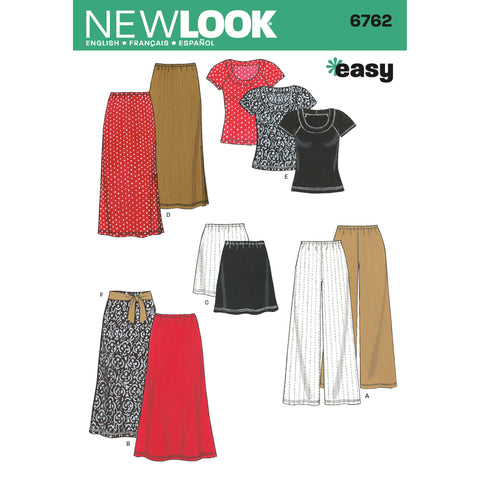 New Look Sewing Pattern 6762 - Misses Separates