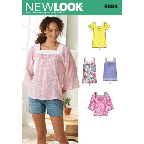 New Look Sewing Pattern 6284 - Misses' Pullover Top in Two Lengths