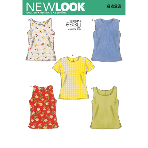 New Look Sewing Pattern 6483 - Misses Tops