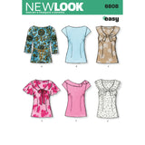 New Look Sewing Pattern 6808 - Misses Tops
