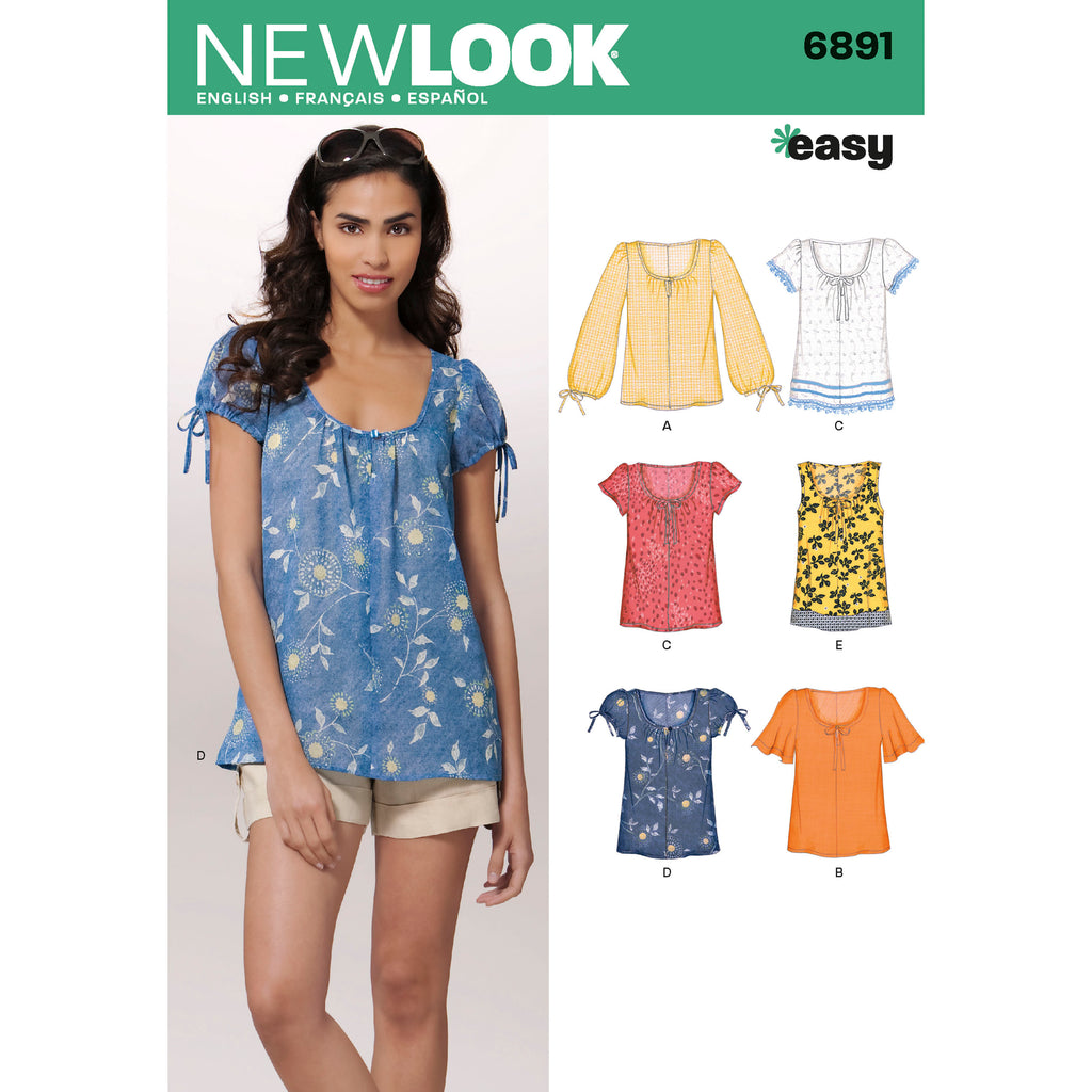ba55606ac8c New Look Sewing Pattern 6891 - Misses Tops. Images / 1 / 2 ...
