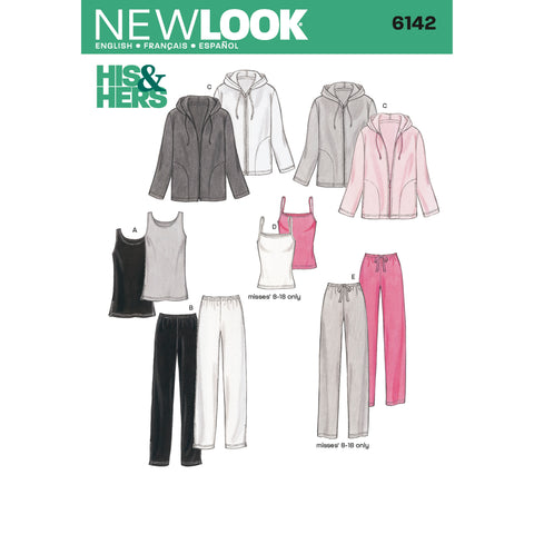 New Look Sewing Pattern 6142 - Miss/Men Separates