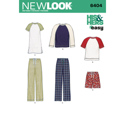 New Look Sewing Pattern 6404 - Misses' and Men's Separates