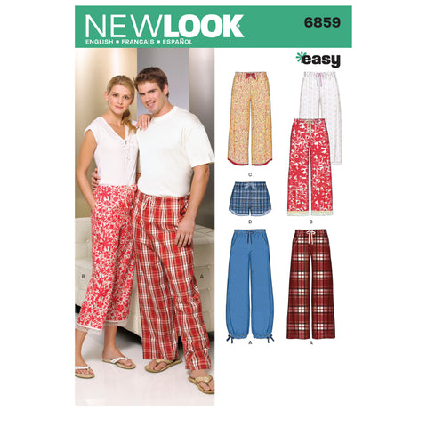 New Look Sewing Pattern 6859 - Miss/Men Separates