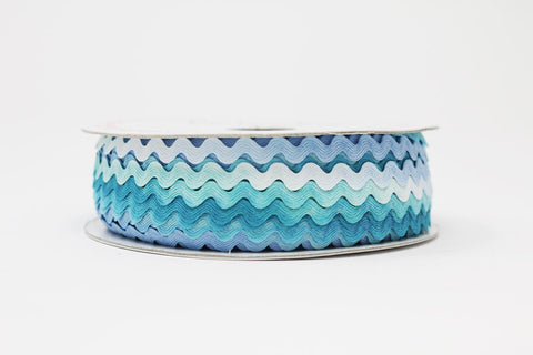 7mm Ric Rac - Blue Ombre