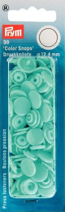 Prym Plastic Colour Snaps Press Fasteners - Round Light Turquoise