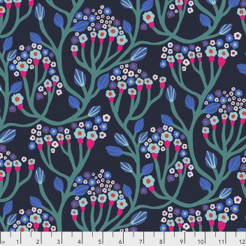 Free Spirit Endless Summer - Bubbling Midnight - 100% Cotton Fabric