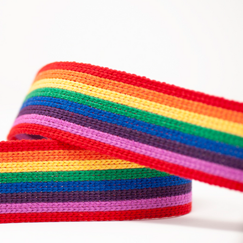 40mm Webbing - Rainbow Stripe