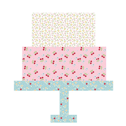 Cake Stand Quilt Block - PDF Pattern