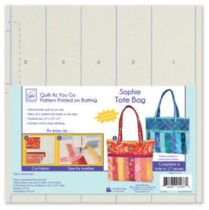 June Tailor Quilt-As-You-Go Sophie Tote Bag Pre-Printed Wadding Pack