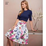 Simplicity Sewing Pattern 8609 - Women's Skirts and Knit Tops