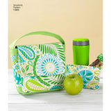Simplicity Sewing Pattern 1385 - Art Caddies, Lunch Bags and Snack Bag