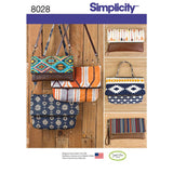 Simplicity Sewing Pattern 8028 - Clutch, Wristlet and Purse in Two Sizes