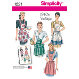 Simplicity Sewing Pattern 1221 - Women's Vintage Aprons