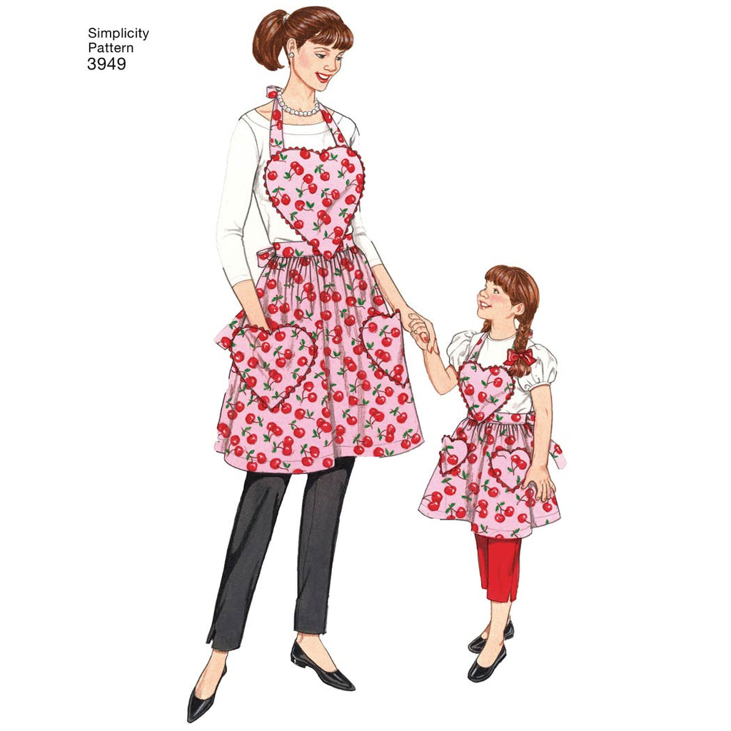 Simplicity Sewing Pattern 3949 A Aprons