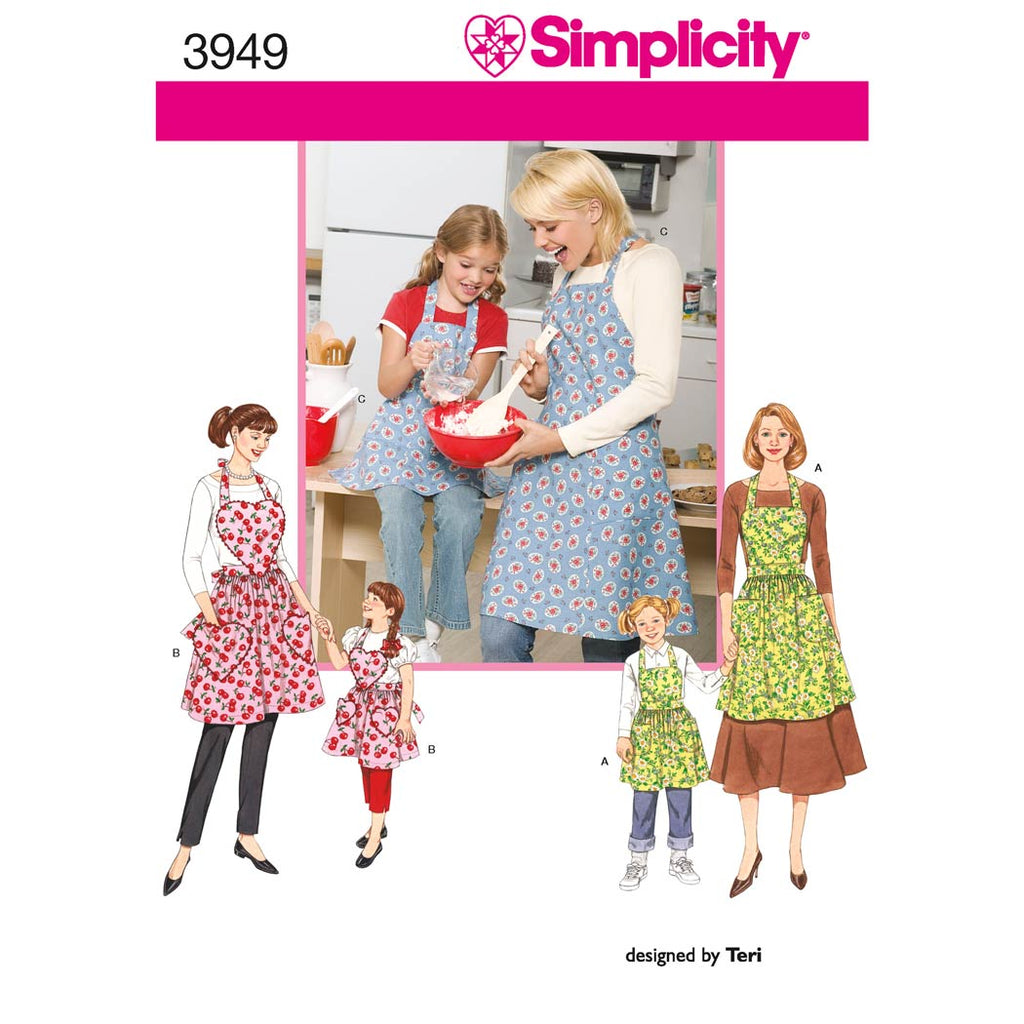 Simplicity Sewing Pattern 3949 - Aprons
