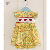 Simplicity Sewing Pattern 1205 - Babies' Dress and Panties