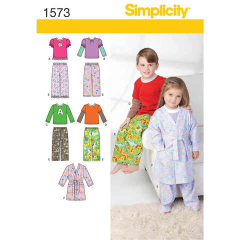 Simplicity Sewing Pattern 1573 - Toddlers' and Child's Loungewear