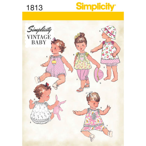 Simplicity Sewing Pattern 1813 - Babies' Dress & Separates