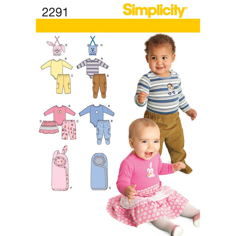 Simplicity Sewing Pattern 2291 - Babies' Separates