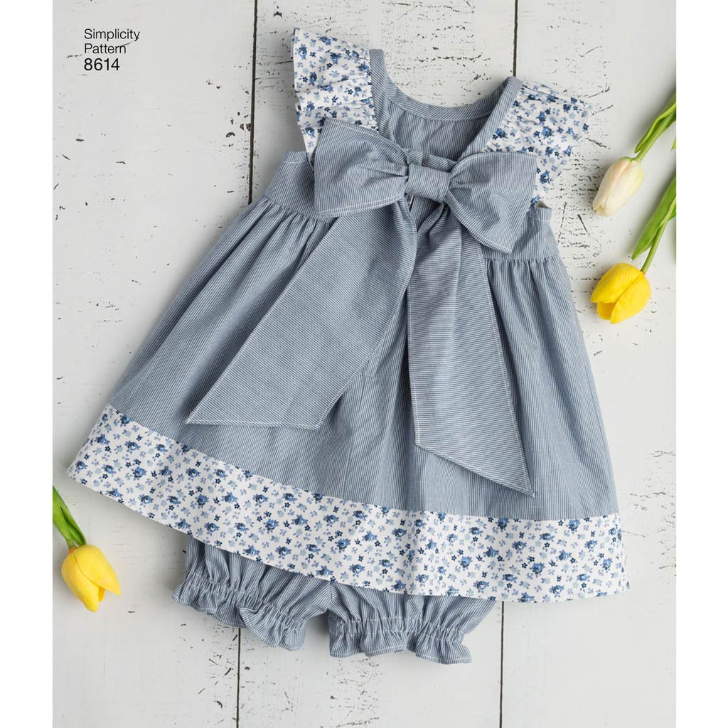 Simplicity 8614 Babies Dress Romper And Panties Sewing Patterns My Sewing Box