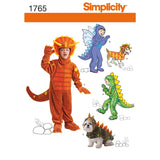 Simplicity Sewing Pattern 1765 - Child's and Dog Costumes