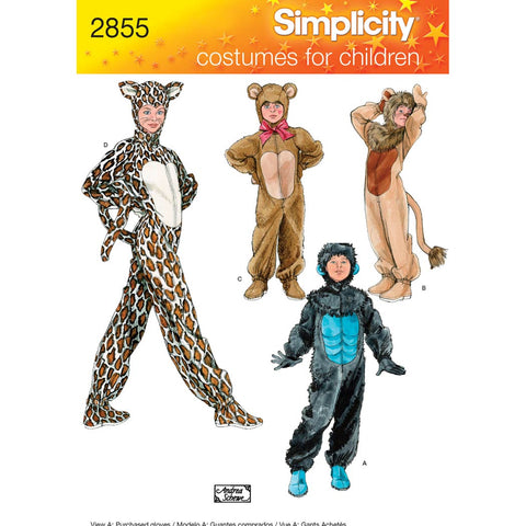 Simplicity Sewing Pattern 2855 - Child, Boy & Girl Costumes