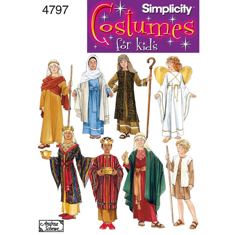 Simplicity Sewing Pattern 4797 - Boy & Girl Costumes