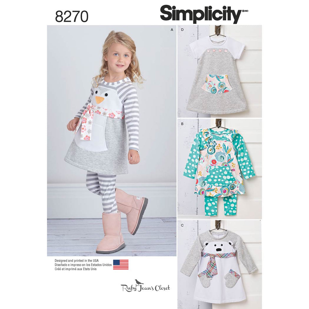 Simplicity Sewing Pattern 8270 - Toddlers' Knit Sportswear from Ruby Jean's Closet