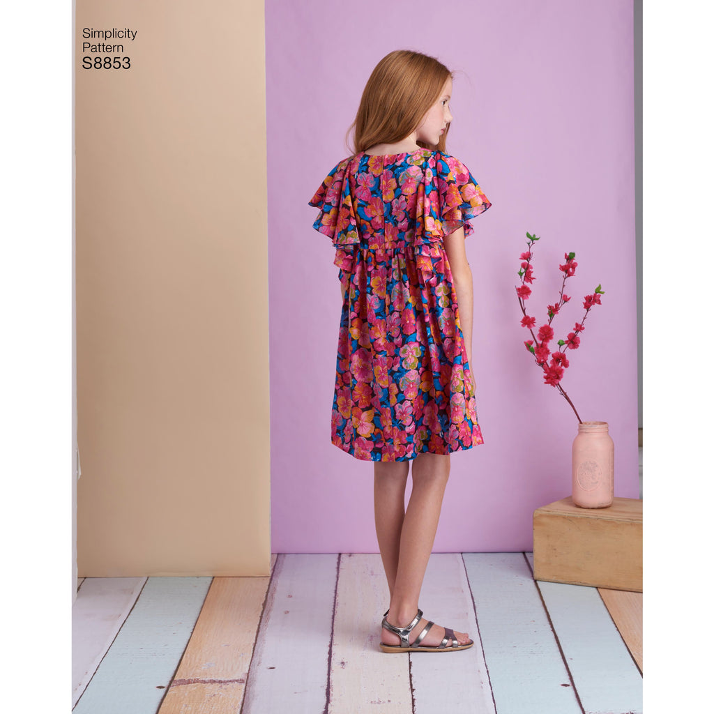 a797b671ae1 Simplicity Pattern S8853 - Child's and Girls' Dress. Images / 1 / 2 / 3 / 4  ...