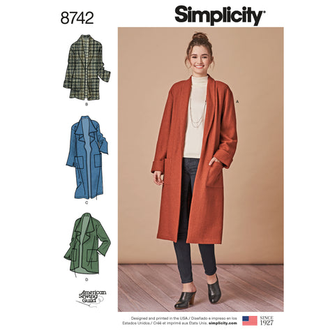 Simplicity Sewing Pattern 8742 - Women's Cardigan