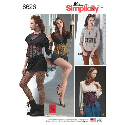 Simplicity Sewing Pattern 8626 - Women's Corset Belts