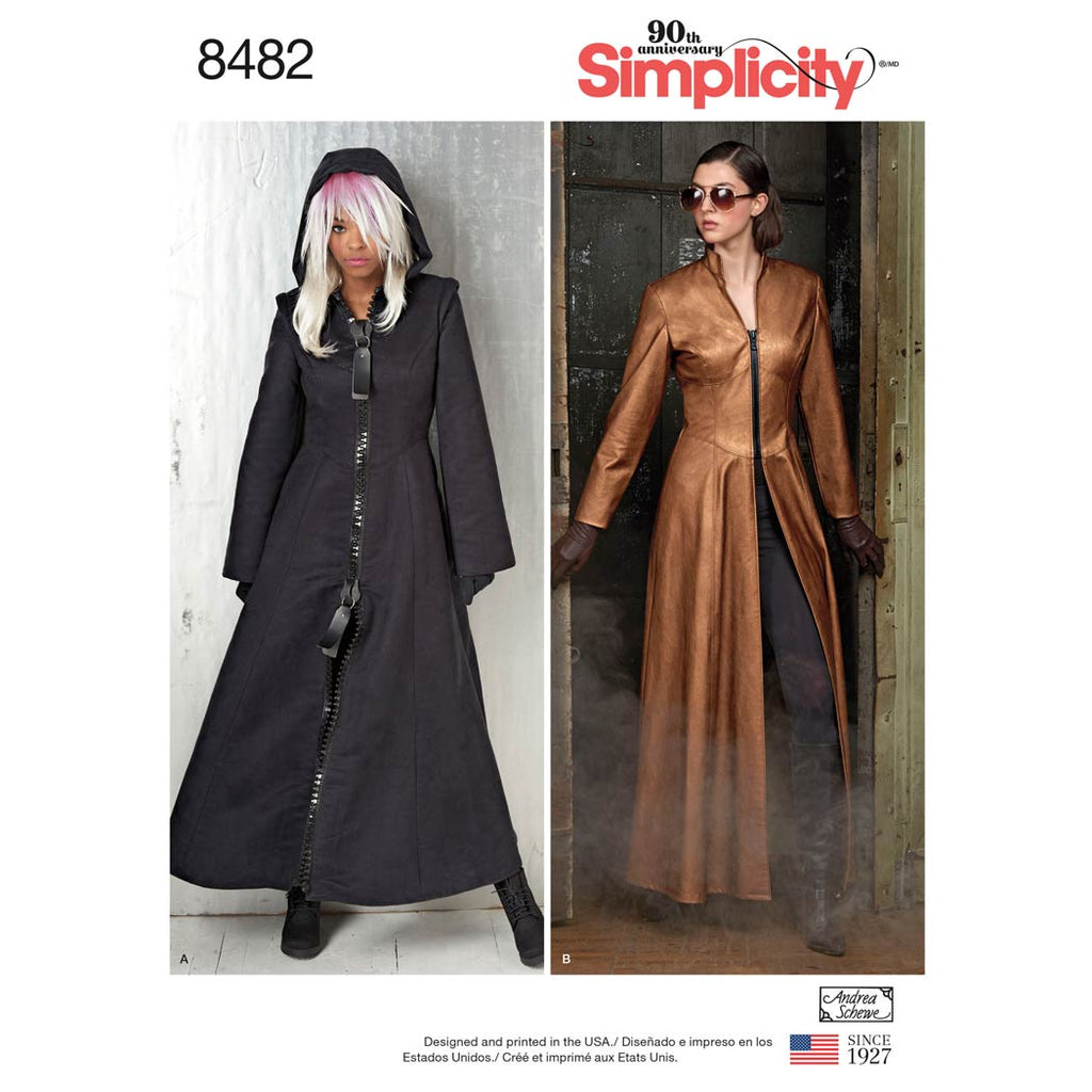 Simplicity Sewing Pattern 8482 - Misses' Costume Coats