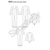 Simplicity Sewing Pattern 8670 - Women's Knit Costume