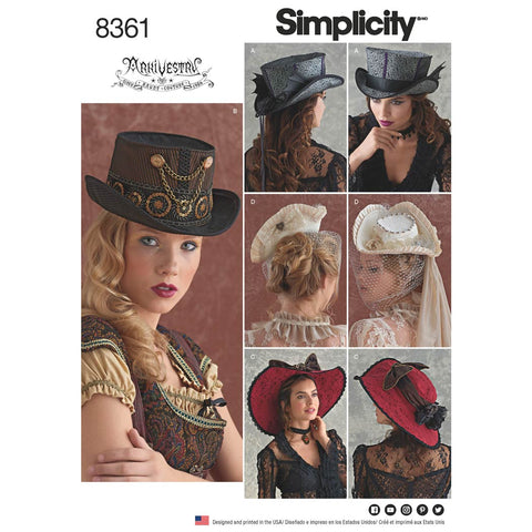 Simplicity Sewing Pattern 8361 - Hats in Three Sizes
