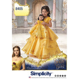 "Simplicity Sewing Pattern 8405 - Disney Beauty and the Beast Costume for Child and 18"" Doll"