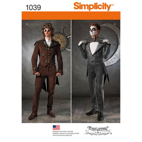 Simplicity Sewing Pattern 1039 - Men's Cosplay Costumes