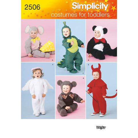Simplicity Sewing Pattern 2506 - Toddler Costumes