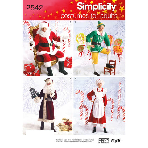 Simplicity Sewing Pattern 2542 - Adult Costumes