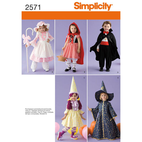 Simplicity Sewing Pattern 2571 - Toddler Costumes