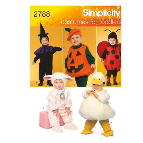 Simplicity Sewing Pattern 2788 - Toddler Costumes