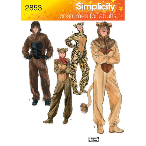 Simplicity Sewing Pattern 2853 - Adult Costumes